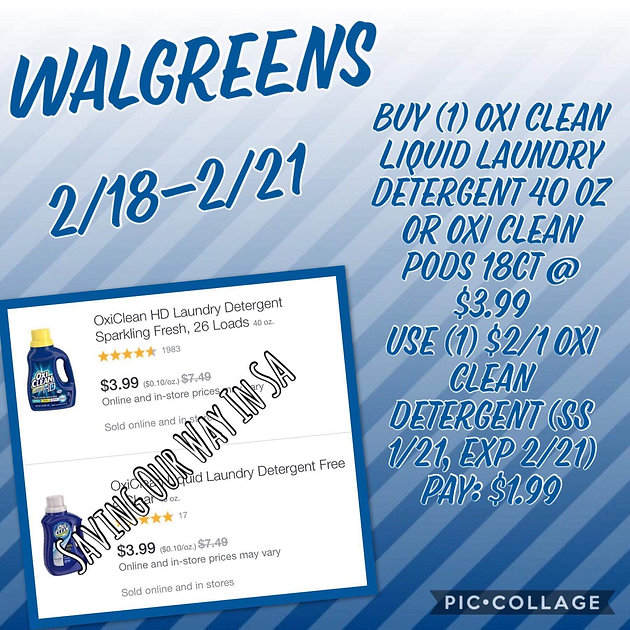 Run Deal at Walgreens This Week! Only $1 99 for Oxi Clean