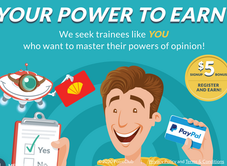 Join PointClub to earn rewards for taking online surveys. Super easy to make Green Cash!