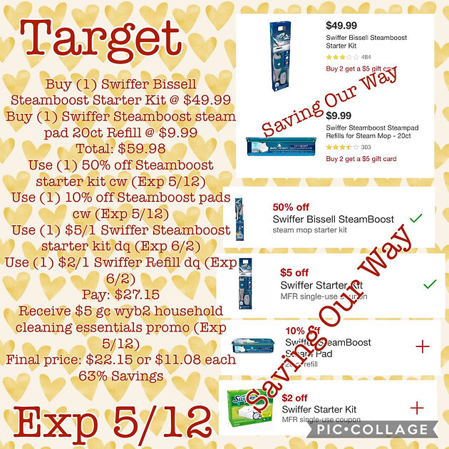 photo about Swiffer Printable Coupons referred to as Get Swiffer Bissell Steamboost Rookie Package and Refill for