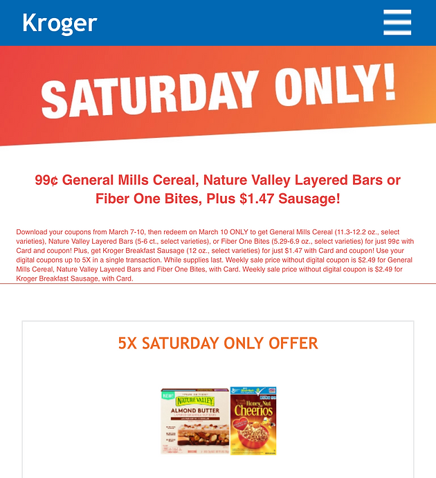 photograph regarding General Mills Printable Coupons named Obtain your Kroger Saay Basically Electronic Discount codes for
