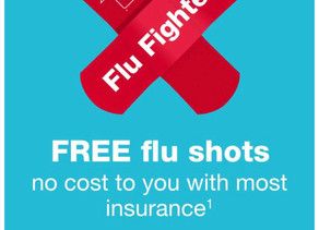 🏃 FREE flu shots no cost to you with most insurance. Get a coupon for $5 off your $20 at Walgreens✅