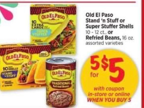😱 5/$5 Old El Paso Stand taco shells Sale at HEB this week!