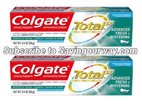 🔇 Woot, Money maker when buying Colgate toothpaste! Go to Savingourway.com to see even more deals!