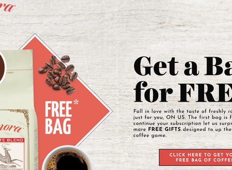 Who loves Coffee? Wake up to the Nice Aroma of Coffee every morning Get Your FREE Bag today!