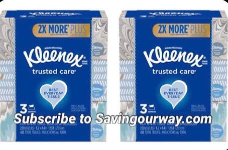 Save🤑 27% on Kleenex tissue 🤧!