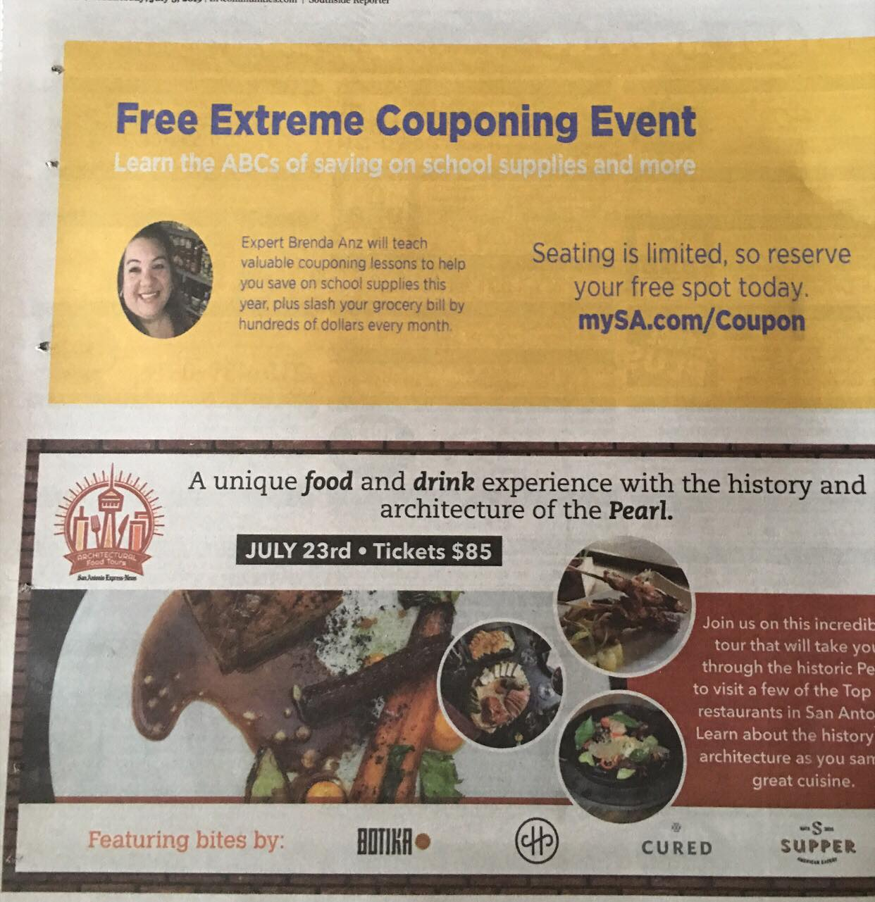 Check Your Southside Reporter To See Brenda Anz Inviting You To Join Her In A Free Coupon Class Sponsored By The San Antonio Express News July 20 22