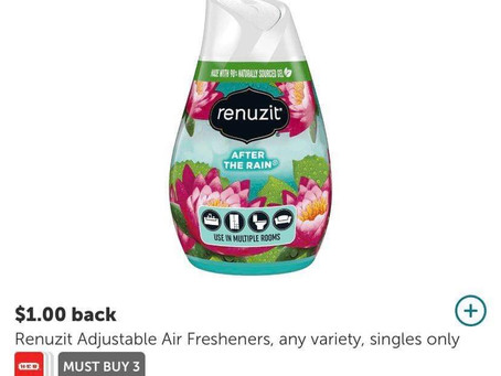 ✅  .50 cent Renuzit air fresheners using Ibotta! Use my code uscldqn when signing up!