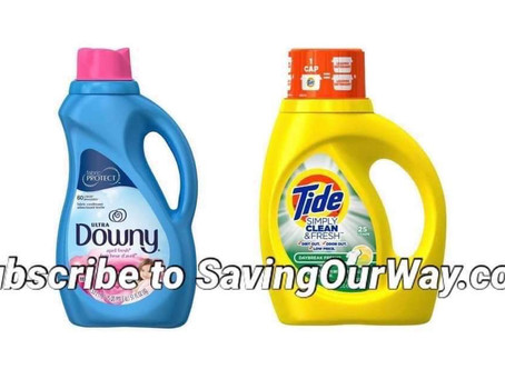 🔇 71% Savings on Tide  detergent or Downey! Stock up!🏃🏻♂️