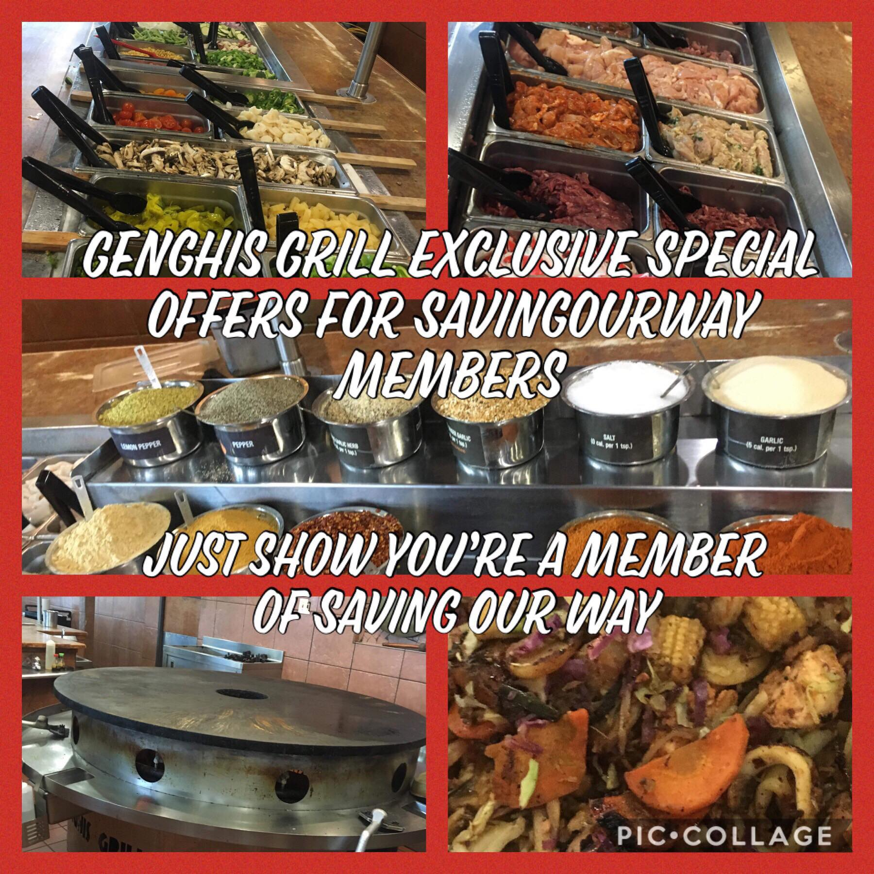 photograph relating to Genghis Grill Printable Coupon known as BOGO Unique Deliver for Preserving Our Route Individuals @ Genghis