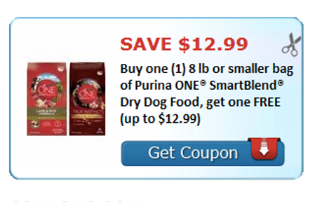 graphic regarding Purina One Printable Coupon referred to as Click on towards Print your BOGO upon Purina 1 SmartBlend Dry Canine