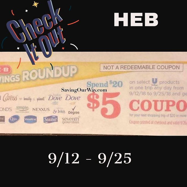 photograph about Heb Printable Coupons titled Refreshing* Catalina @ HEB!