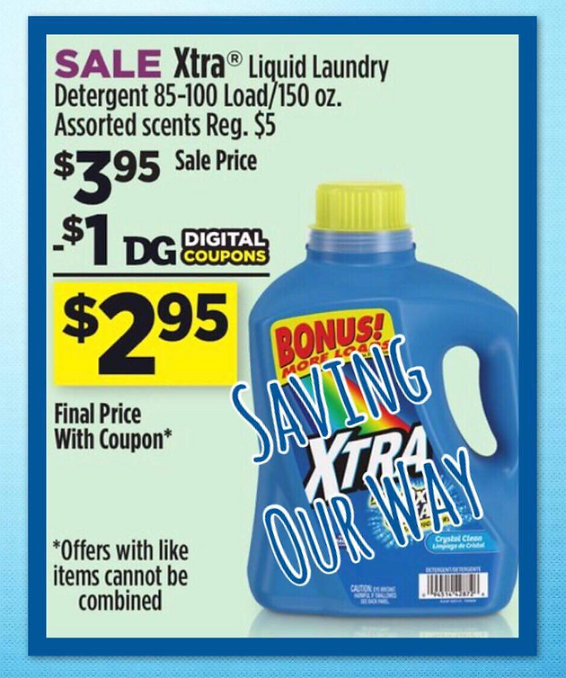 photo about Xtra Laundry Detergent Printable Coupon called Xtra Liquid Laundry Detergent just $2.95 each and every @ Greenback In general!