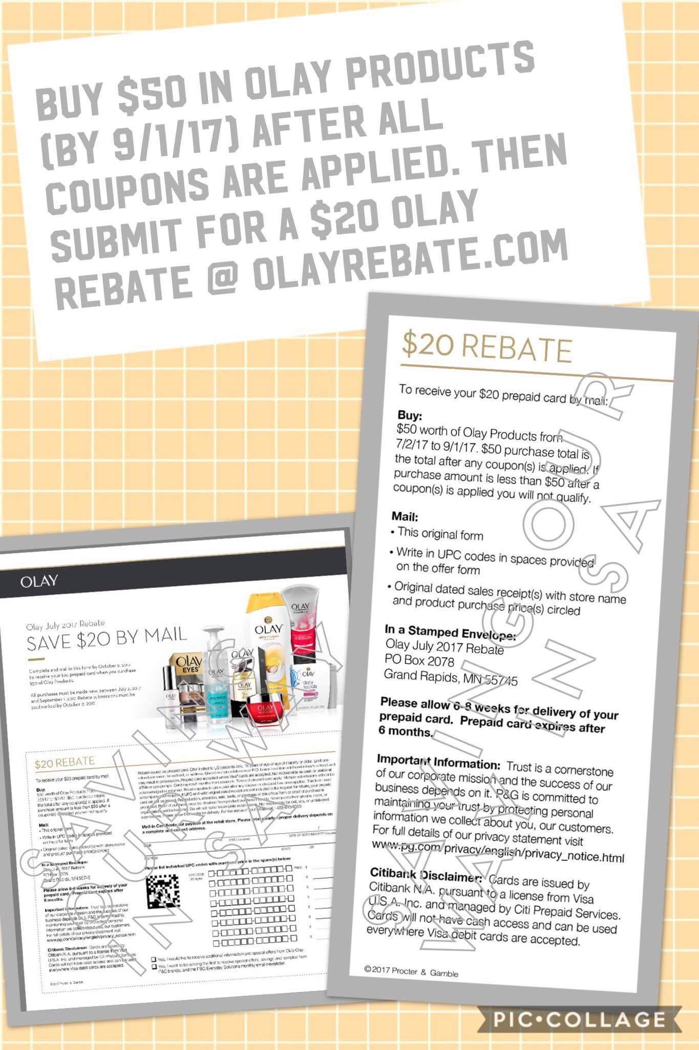 $20 Prepaid Gift Card offer from Olay! | Couponing Blogs | United
