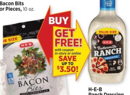 🙌FREE SALAD dressing at HEB this week! To see more deals subscribe to savingourway.com🛍