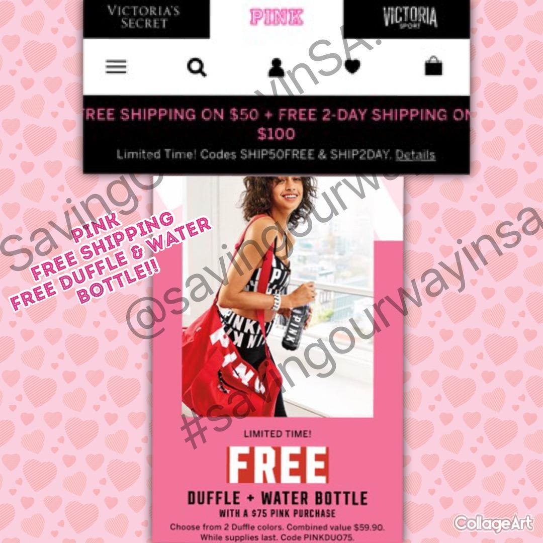 FREE PINK Duffel bag 582a22d9f9cb2