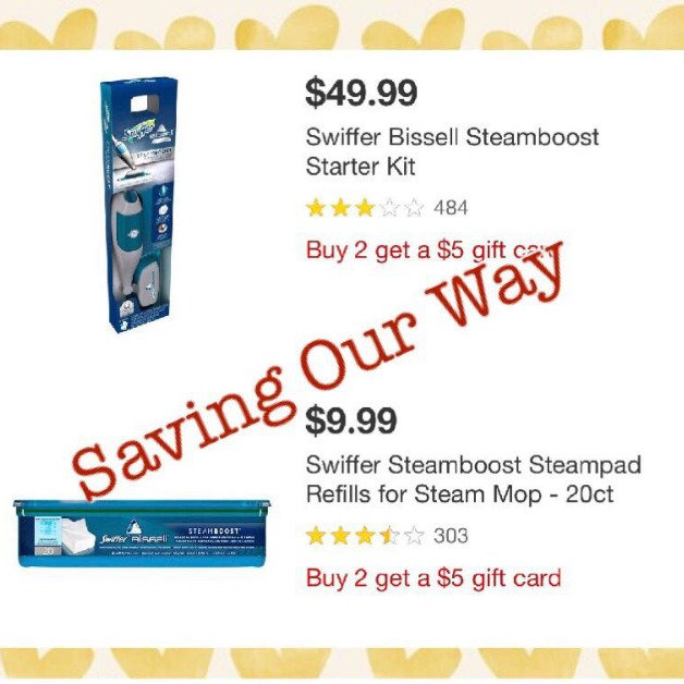 image about Swiffer Printable Coupons identify Get Swiffer Bissell Steamboost Rookie Package and Refill for