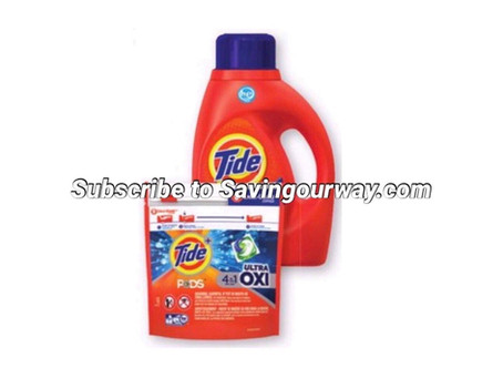 * 46% Savings on Tide Detergent at Dollar General this week!*