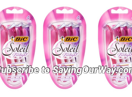 60% off Bic Razors at Walgreens this week! Subscribe to savingourway.com to see more deals!