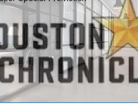 $2.00 Houston Chronicle Special Promotion you can only get through Coupon Coach Brenda Anz!