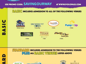 PogoPass News! If you live in Texas or coming for a visitand looking for affordable family enterta