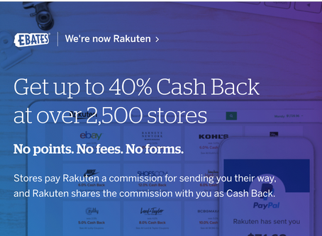 Join for free and get a $10 gift card after your first purchase of $25 or more with Rakuten!