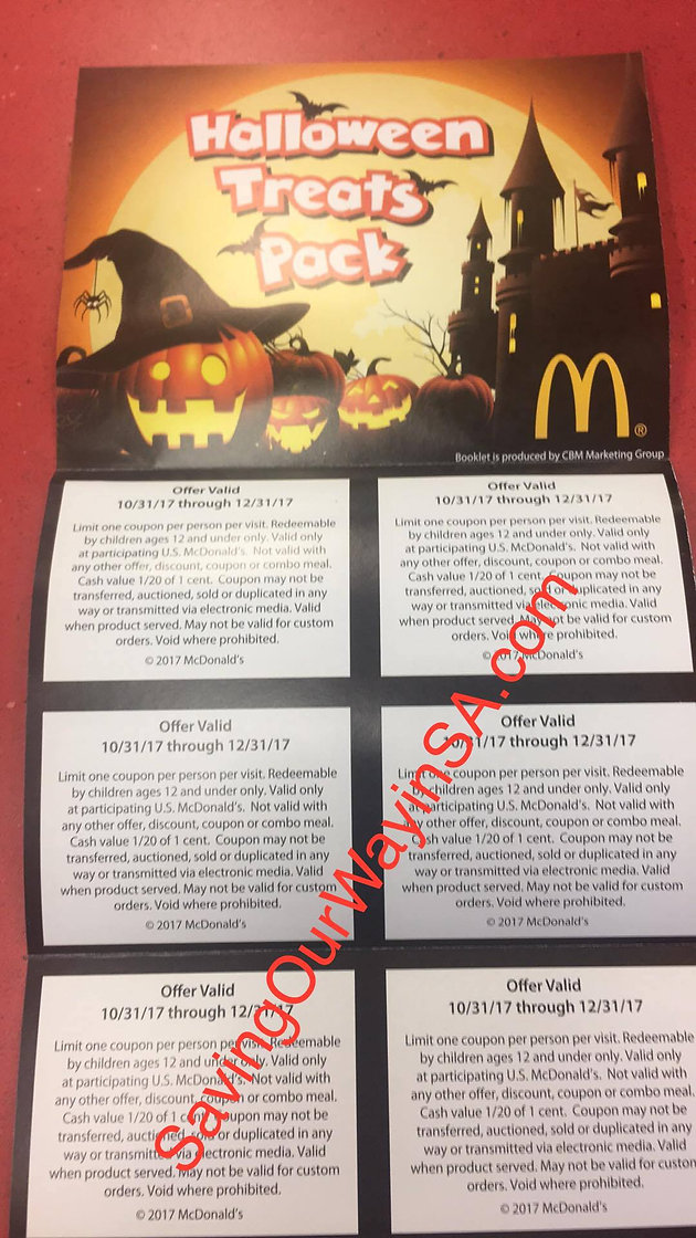 McDonald's Halloween Treat Pack only $1! | Couponing Blogs