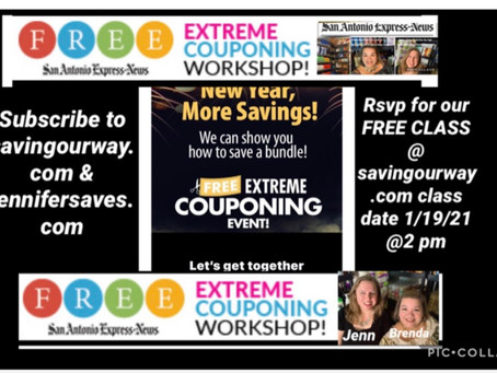 💰Brenda Anz & Jenn King  next FREE Coupon Class! (Rsvp now for January 19th!)