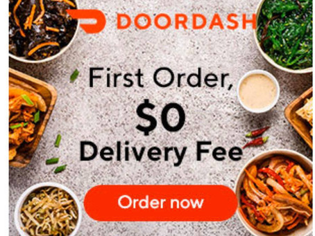 Order from Doordash and receive $0 Delivery Fee on First Order. Now this is a DEAL!
