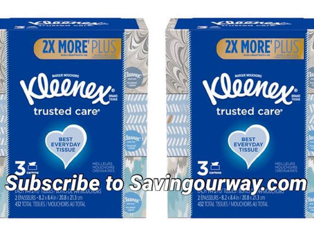 Stock up on Kleenex tissue using high value Digital coupon at Walgreens!
