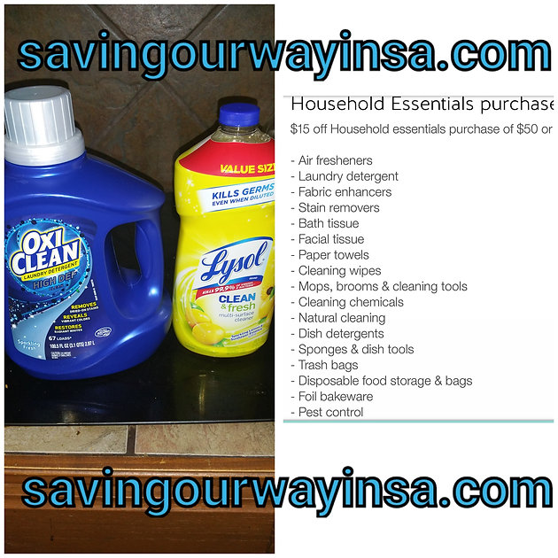 Oxi Clean Liquid Detergent 100 5 oz and Lysol 48 oz  only