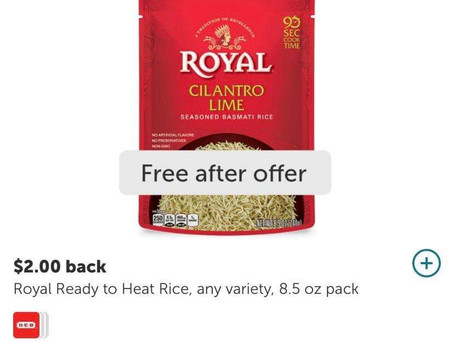 "🔇FREE Royal Chicken & Herb  Flavored Basmati Rice,using Ibotta! Sign up with my code""uscldqn"""