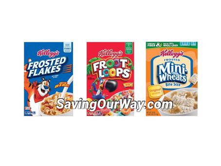 🔥85 % Savings on Kellogg's cereal at Walgreens this Week!