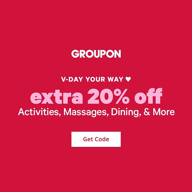 Cupid's Picks: Extra 20% Off Activities, Massages, Dining