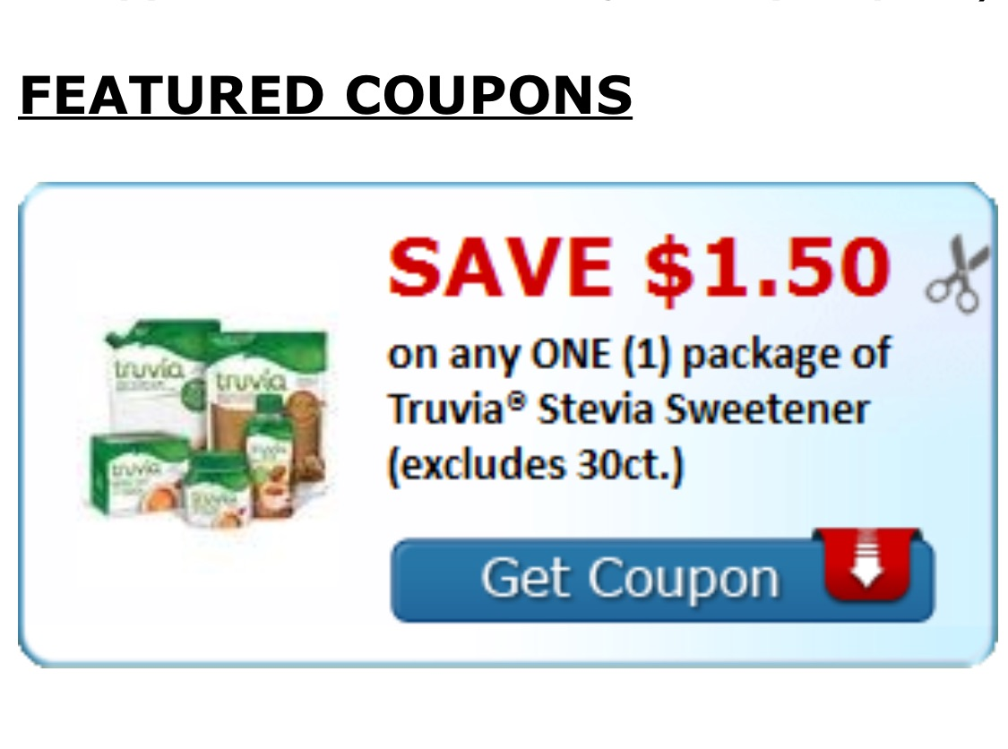 picture about Truvia Coupon Printable known as Click on Right here toward print your Truvia Superior cost coupon dollars and