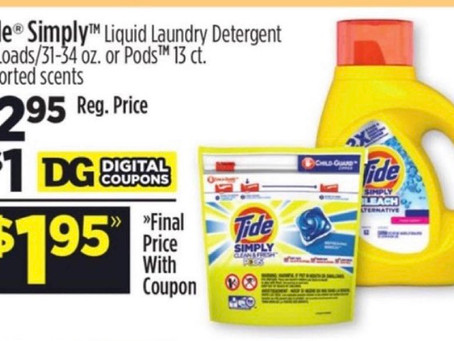 🙌Check out these 4 Money Savings deals at Dollar General!