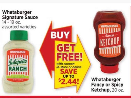 🆓 Whataburger Fancy or Spicy Ketchup!