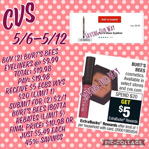 graphic regarding Burt's Bees Coupons Printable identify Burts Bees Eyeliners specifically $5.49 @ CVS! Couponing Weblogs