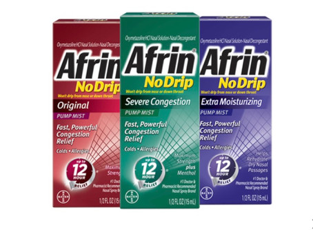"""💰Earn $1.75 from ibotta when purchasing Afrin nose spray! If new to Ibotta use my code """"uscldqn"""""""