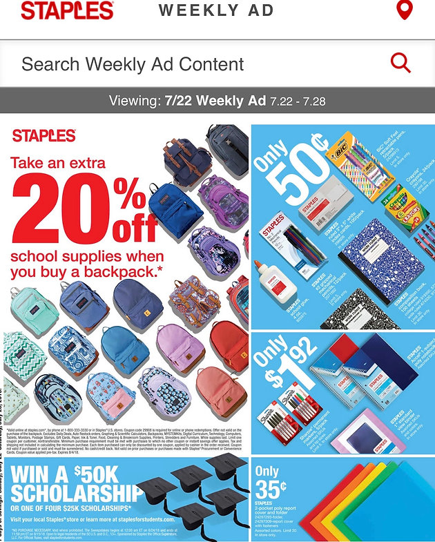 photo about School Supplies Coupons Printable titled Staples Discounts upon Faculty Resources! (Exp 7/28) Couponing