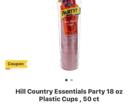 Free Hill Country Essentials Party Cups, at HEB! Check out my post to see details!