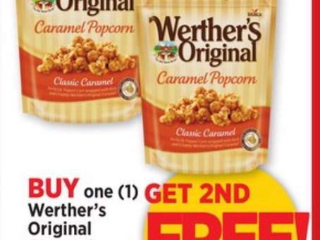 😱 Bogo Deal on Werther's Original Caramel Popcorn 🍿!