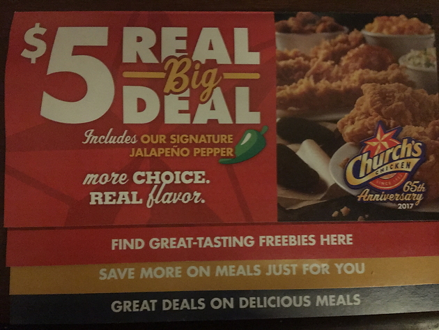 photo about Church's Chicken Printable Coupons referred to as Freebies @ Churchs Bird!