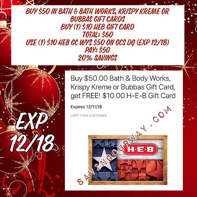 Heb Hours Christmas Eve.Gift Cards Are What S In This Christmas And Heb Has A Deal