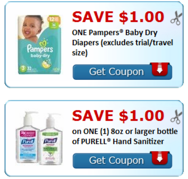 graphic about Purell Printable Coupons titled Click on In direction of Print your Coupon Funds for Pampers Child Dry