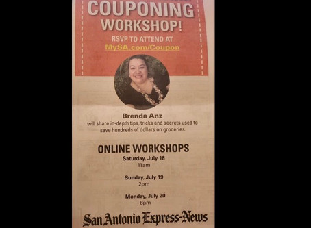🔇Brenda Anz is Featured in Express News today! She's Excited to show you the world of coupon!
