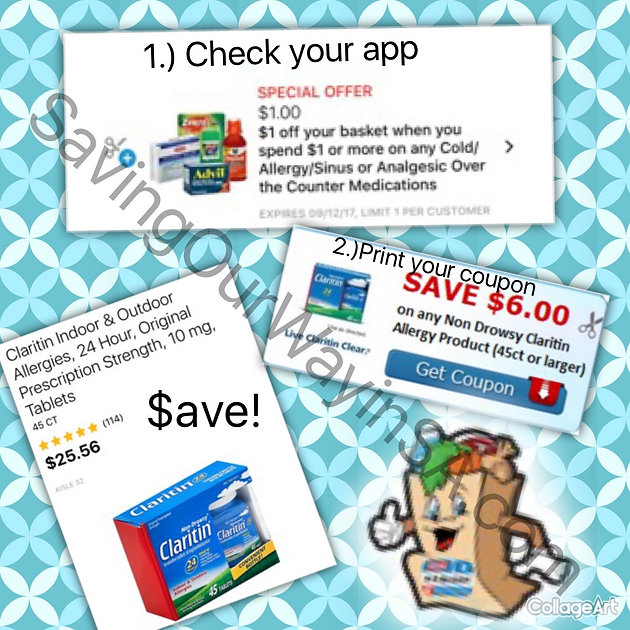 picture relating to Claritin Coupon Printable named Electronic Coupon + Printable Coupon \u003d Utmost Discounts upon