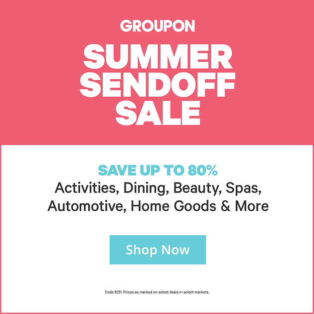 Groupon Summer Sendoff Sale: Save up to 80% Off Activities, Dining