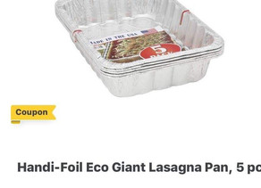 🙌 $3 digital coupon off Handi -Foil Eco Giant Lasagna pans making this a great deal at HEB!📣