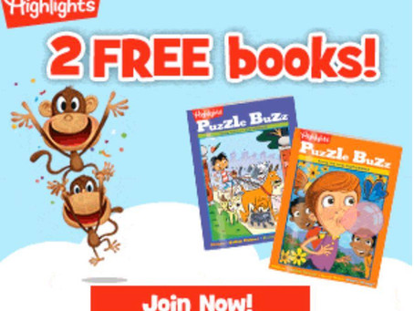 keep the kids busy with their 2 FREE Educational Highlights Books! Keep the KIDS Entertained!
