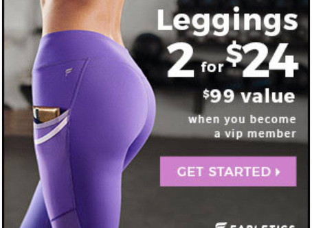 Online shopping with Fabletics! Come on in and check out the deals right at your fingertips!
